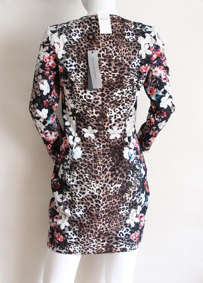 f5d4474bde Black Halo short dress Leopard Print Multi Floral on Tradesy.  123456789101112