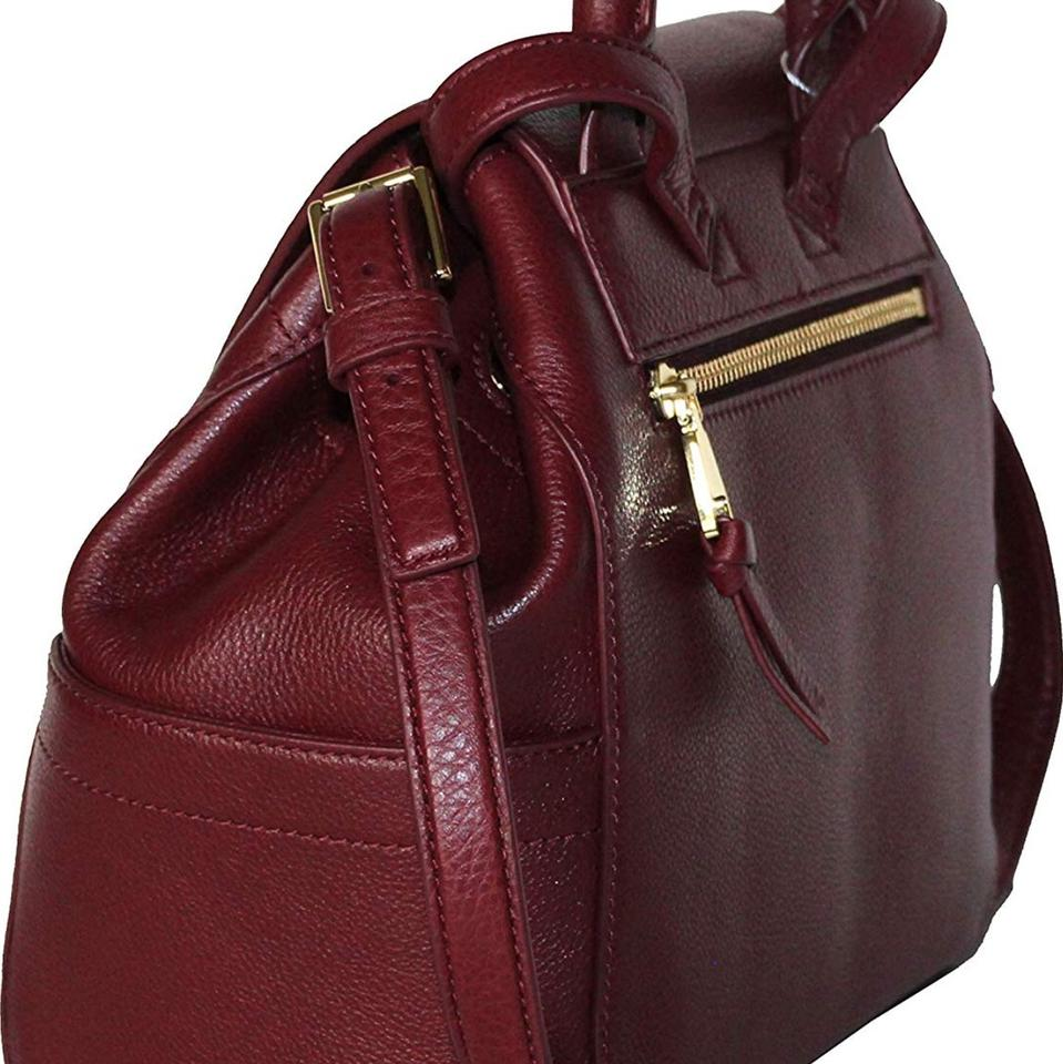 Mini Whipstitch Burgundy Tory Backpack Logo Burch Leather 7axxwnAfPq