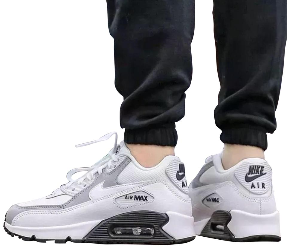 promo code 5e89c fdd27 Nike Women s Air Max 90 White + Black Sneakers. Leather and Mesh Upper  Fabric. Style Color  325213-126 Sneakers