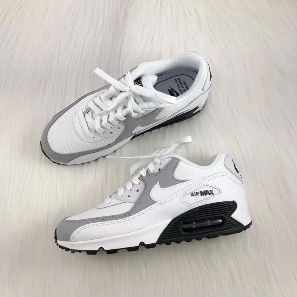 promo code 40887 4244a Nike Women s Air Max 90 White + Black Sneakers. Leather and Mesh ...