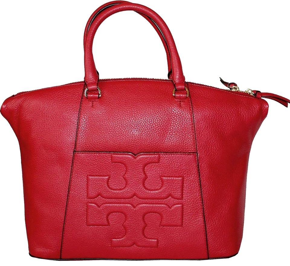 Tory Slouchy Leather T Red Liberty Small Burch Bombe Satchel qZvxrIZw