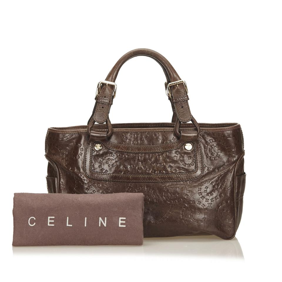 Embossed Leather Shoulder Boogie Brown Others Céline Bag X 8Tqfp8x