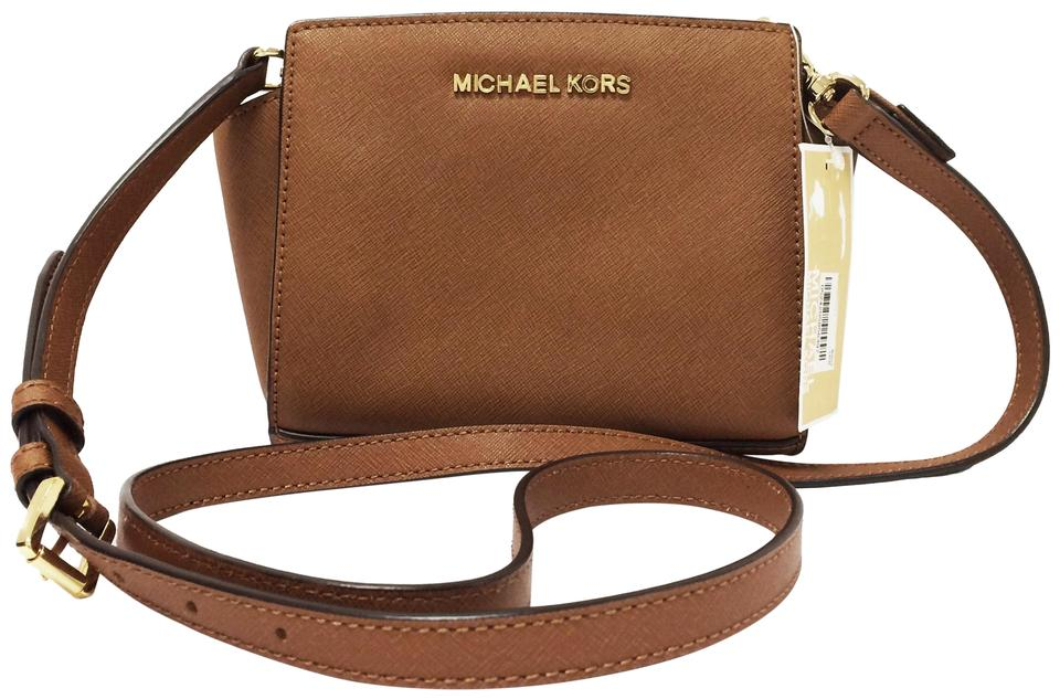 297ac03f02fa MICHAEL Michael Kors Mini Saffiano Leather Selma Luggage Messenger Bag  Image 0 ...