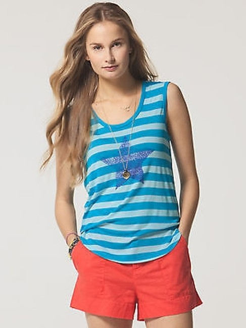 Preload https://img-static.tradesy.com/item/2388559/cc-california-womens-peacock-blue-star-printed-striped-tank-top-84m03k20ds-xs-0-0-650-650.jpg