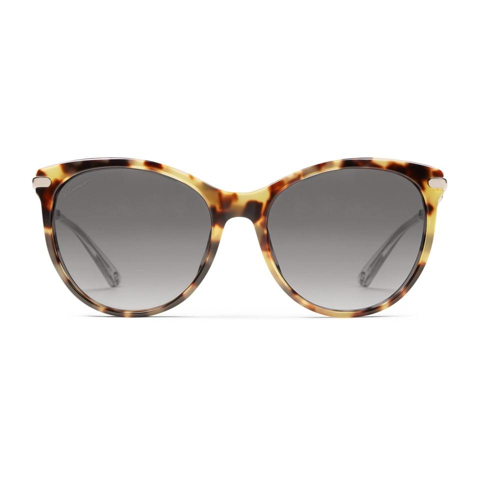 238d74c2271 Gucci Women s Yellow Havana GG 3771 S Brown Lens Bamboo Temple Image 0 ...