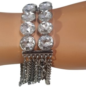 Simply Vera Vera Wang Simply Vera Wang Stretch Bracelet Silver Tone and Gunmetal Plated