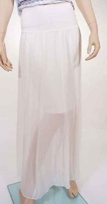 Vince Camuto 9334802 Womens Lined Chiffon Long Maxi Skirt Ivory