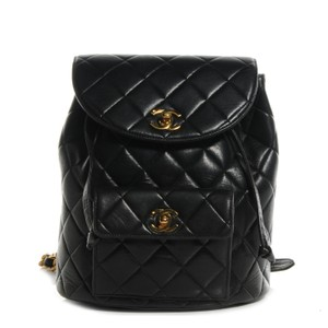 Chanel Vintage Quilted Celebrity Rare Chain Backpack