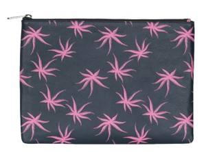Marc by Marc Jacobs Marc by Marc Jacobs Black Leather Palm Print Zip Up Pouch Clutch