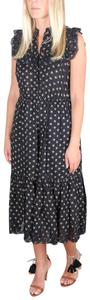 Black Maxi Dress by Ulla Johnson Annie Floral Eyelet Lace Coal Prarie