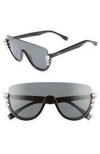 Fendi Fendi Ribbons Sunglasses FF0296S 807 IR Black w/Gray Lens