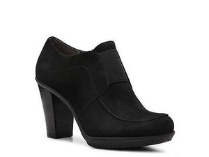 Liz Claiborne Yvonne Womens Suede Leather Heels Black Boots