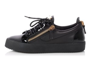 Giuseppe Zanotti Patent Gold Gu.ep0725.11 Zipper Black Athletic