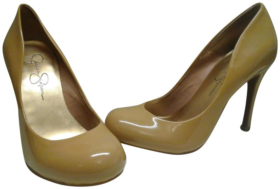 61af38888a35 Jessica Simpson Brown Woman s Patent Leather Tan
