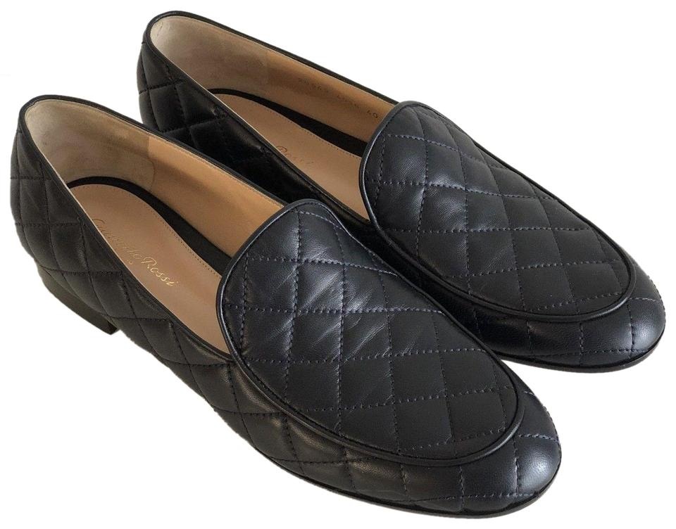 d7ad4028c29 Gianvito Rossi Navy Blue Loafers Moccasins Womens Formal Shoes Size ...