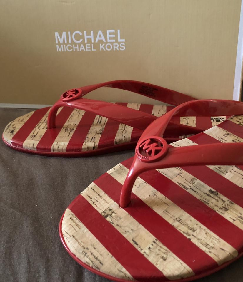 0c244ca00c84 MICHAEL Michael Kors New In Box Jelly Jet Set Theme Primrose Boardwalk  Stripe Sandals Image. 123456789101112