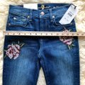 7 For All Mankind Blue Dark Rinse Floral Patchwork The Ankle Skinny Jeans Size 24 (0, XS) 7 For All Mankind Blue Dark Rinse Floral Patchwork The Ankle Skinny Jeans Size 24 (0, XS) Image 11