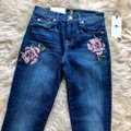 7 For All Mankind Blue Dark Rinse Floral Patchwork The Ankle Skinny Jeans Size 24 (0, XS) 7 For All Mankind Blue Dark Rinse Floral Patchwork The Ankle Skinny Jeans Size 24 (0, XS) Image 5