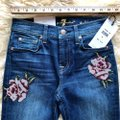 7 For All Mankind Blue Dark Rinse Floral Patchwork The Ankle Skinny Jeans Size 24 (0, XS) 7 For All Mankind Blue Dark Rinse Floral Patchwork The Ankle Skinny Jeans Size 24 (0, XS) Image 10