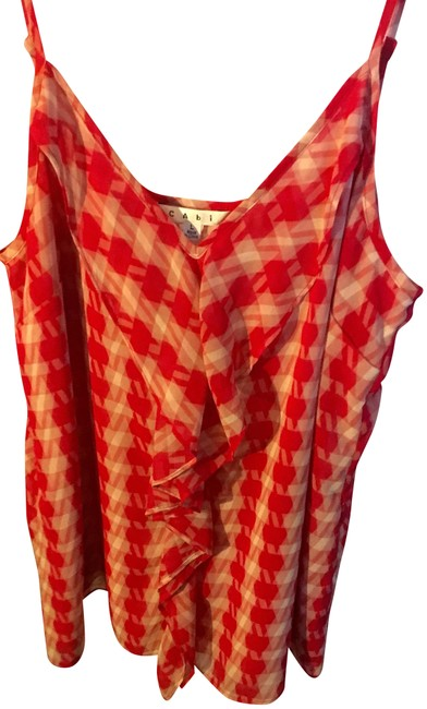 Item - Red/White Pattern Amour Tank Top/Cami Size 12 (L)