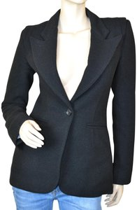 Smythe New York Winter Tailored Classic Wool Blend Black Blazer