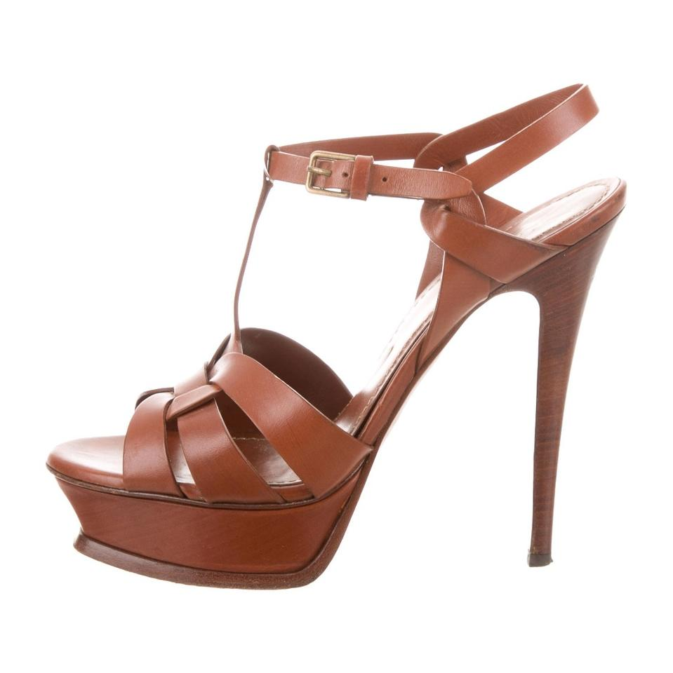 Saint Laurent Sandals Brown Tribute Yves 105 Sandals Laurent Platforms 44bb5d