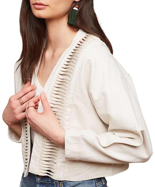 Item - Beige Hei Hei Cropped Ladder Linen Cut Out Cropped Jacket Size 4 (S)