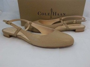 Cole Haan Marloe Slingbacks Skimmer Ii Women Sand Lizard Leather Tan Flats