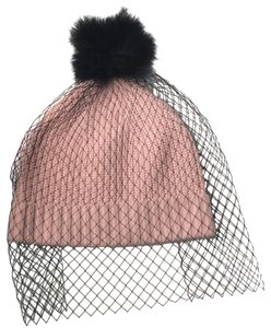 Kate Spade Fit To Be Tied Pink Wool Hat With Black Veil
