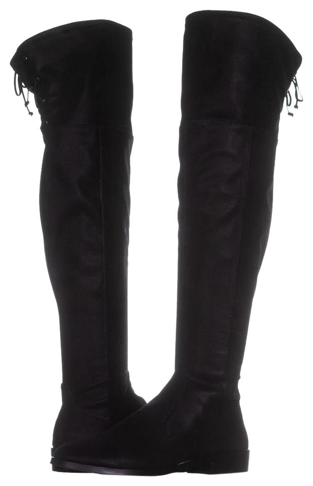 73f9088bda1 Vince Camuto Black Crisintha Over-the-knee Rear Lace 042 U Boots ...