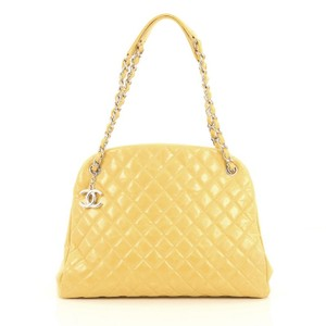Chanel Leather Tote In Honey Mustard Yellow