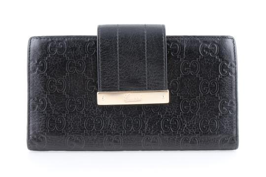 Preload https://item1.tradesy.com/images/gucci-black-guccissima-leather-continental-flap-wallet-23887745-0-0.jpg?width=440&height=440