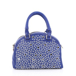 Christian Louboutin Leather Satchel in blue