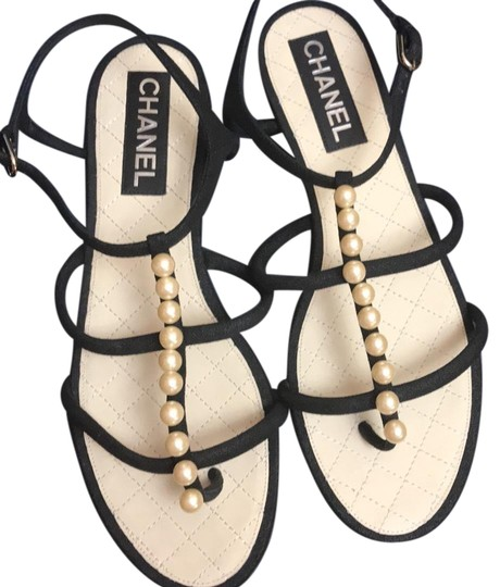 Preload https://img-static.tradesy.com/item/23887755/chanel-black-pearl-sandals-size-eu-41-approx-us-11-wide-c-d-0-1-540-540.jpg