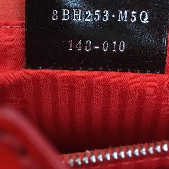 Fendi Leather Tote in red