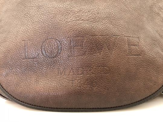 Loewe Pebbled Messenger Gate Monogram Cross Body Bag
