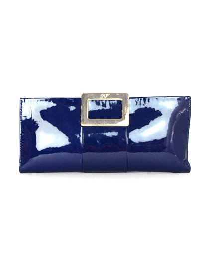 Preload https://img-static.tradesy.com/item/23887778/roger-vivier-pilgrim-with-gold-clasp-closure-blue-patent-leather-clutch-0-0-540-540.jpg