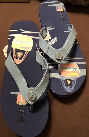 Nautica Sea Motif Unisex Blue Ocean Blue--New with tags Sandals