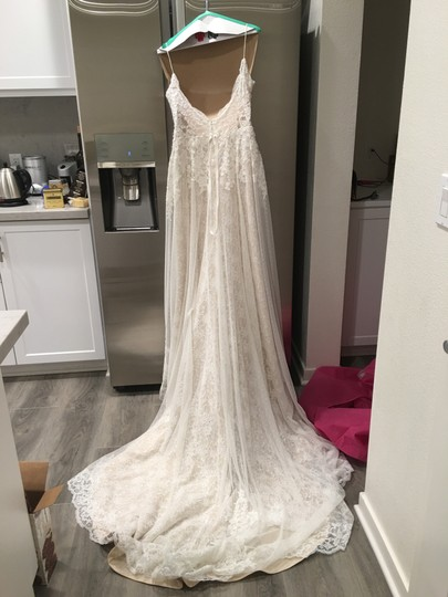 Ti Adora by Alvina Valenta Ivory Lace 7652 Feminine Wedding Dress Size 12 (L)