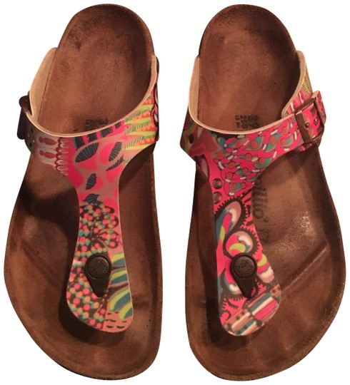 Preload https://img-static.tradesy.com/item/23887915/birkenstock-raspberry-multi-gizeh-sandals-size-eu-39-approx-us-9-regular-m-b-0-1-540-540.jpg