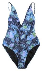 We are Handsome String Plunge Printed One Piece Swimsuit Bathing Suit
