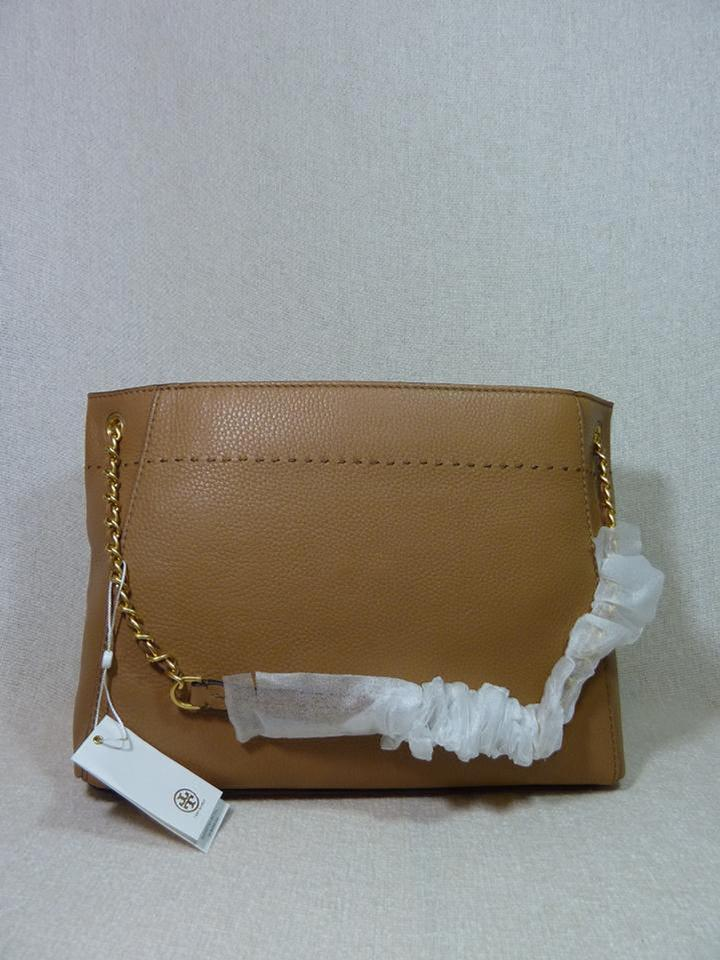 Mcgraw Chain Tan Burch Baguette Slouchy Tory Leather Tote Fwq46qvZ