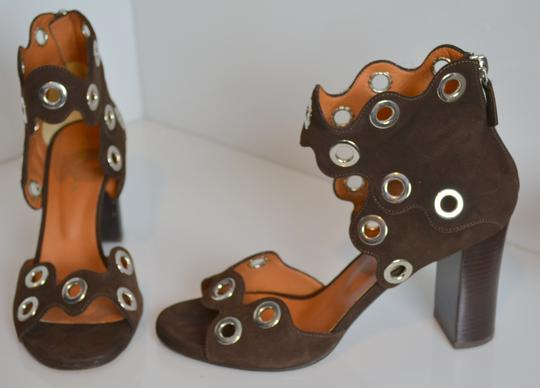 Derek Lam Sold Out Must Have Grommets Handmade Designer Brown Sandals