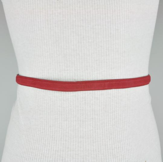 BCBGeneration BCBG Red Faux Leather Velvet Belt