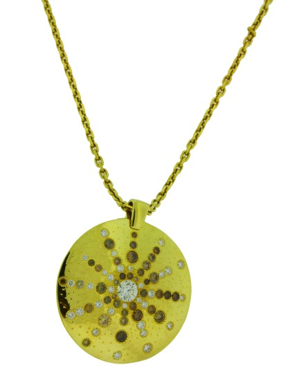 Preload https://item5.tradesy.com/images/yellow-gold-talisman-sun-ray-diamond-18k-necklace-23887969-0-0.jpg?width=440&height=440