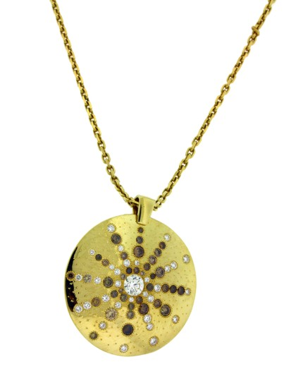 De Beers De Beers Talisman sun ray diamond necklace in 18k yellow gold