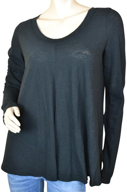 Preload https://item3.tradesy.com/images/vince-black-new-cotton-long-sleeve-blouse-size-6-s-23888017-0-1.jpg?width=400&height=650