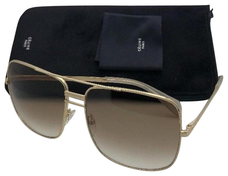 5a2a39df8b73 Céline New CELINE Sunglasses CL 41808 S J5GXY 61-15 140 Gold Aviator w ...
