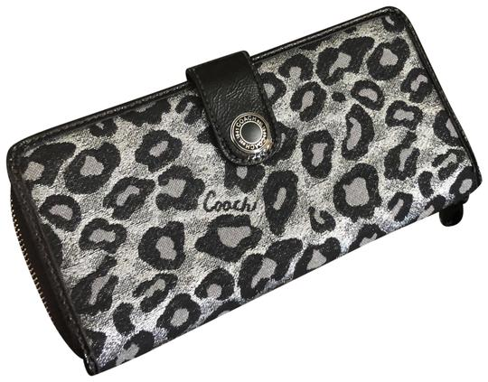 Preload https://img-static.tradesy.com/item/23888076/coach-black-silver-ocelot-wallet-0-1-540-540.jpg