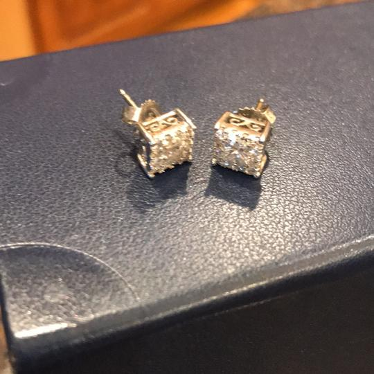 Macy's 1/2 Carat Diamond Halo Stud Earrings